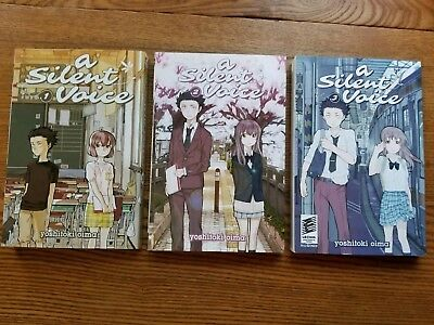 A Silent Voice Volumes 1 - 3 (English - Paperbook) By Yoshitoki oima