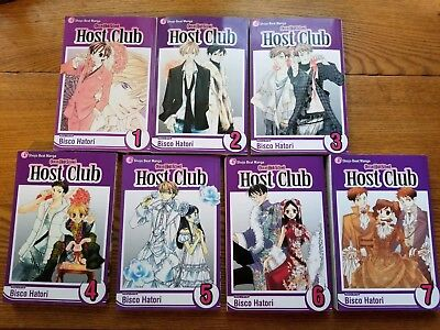Ouran High School Host Club  Volumes 1 - 7 (English - Paperbook) By Bisco Hatori
