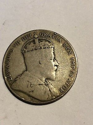 1909 Fifty Cent Canadian  New Foundland   See The Pics No Reserve