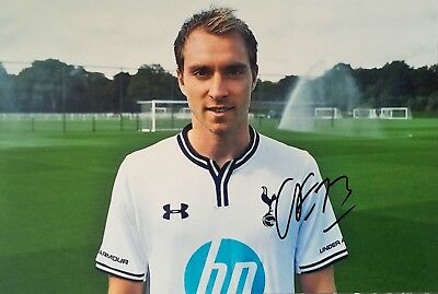 Christian Eriksen signed 12x8 photo Image I UACC Registered Dealer COA AFTAL