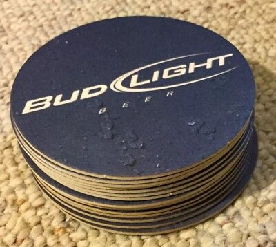 New 15 Bud Light Official Beer Coasters Blue double sided