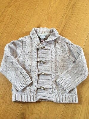 Cyrillus Paris Classic Cable Knit Jacket With Togs Age 3, Cotton/wool/angora