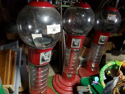 Large spiral Gumball Machine. 25 cents per gumball