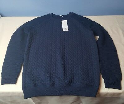 Bnwt Boys Navy Jumper / Sweatshirt, From Florence & Fred Age 12-13