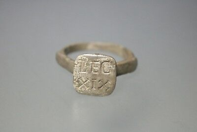 Ancient Interesting Roman Silver Legionary Ring * LEG XIX * 1st-3rd Century AD