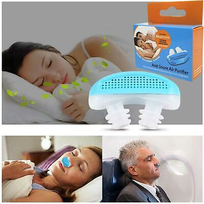 Anti Snore Air Purifier 2 in 1 Relieve Nasal Congestion Snoring Night Sleep Aid