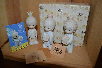 Precious Moments E-5635 Wee Three Kings 1982 Hourglass Still New Box & paperwork