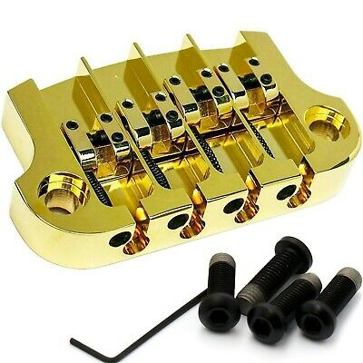NEW Hipshot SuperTone 3-Point Replacement Bridge for 4-String Gibson Bass - GOLD