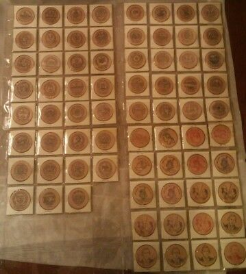 Lot of 71 Vintage Antique Wooden Nickels Coin all 50 US States plus extras LOOK!
