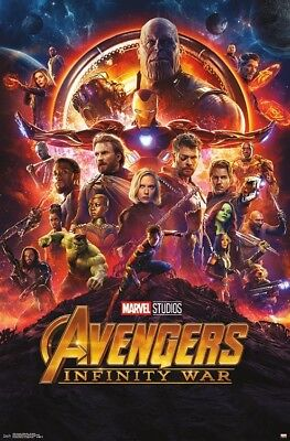 AVENGERS INFINITY WAR - ONE SHEET MOVIE POSTER - 22x34 MARVEL COMICS 15238