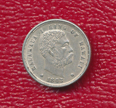 1883 Hawaii Silver Dime **about Uncirculated Details** Free Shipping!