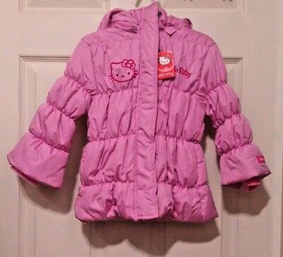 c7dadaf34 NWT Hello Kitty Toddler Girl Pink Winter Puffer Jacket/Coat Removable Hood  2T 3T