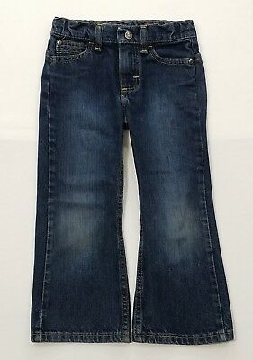 Wrangler Youth Boy's Dark Blue Wash Boot Cut Western Riding Jeans Size-4X17