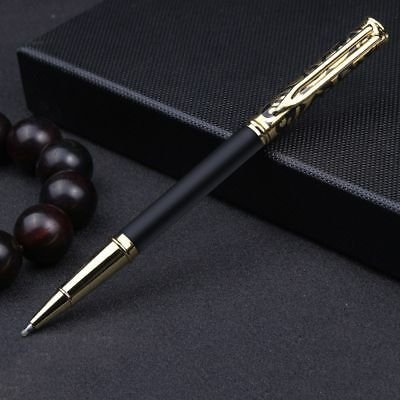 0.5mm Supplies Luxury Metal Rollerball Pen Signature Ballpoint Pen Black Ink