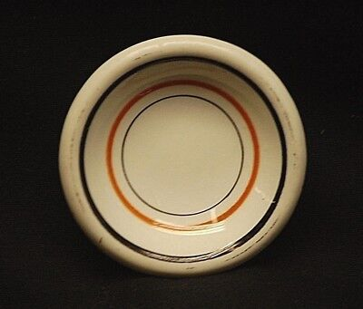 Old Vintage Restaurant Ware Butter Pat Black & Gold Bands Decorative Tableware