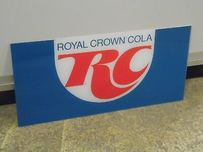 """RC Cola Soda  Sign Royal Crown Lucite Acrylic (23.5 x 11 1/4"""" )"""