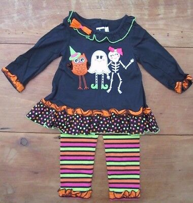 NWT Rare Editions baby toddler girl 24 mos Halloween leggings outfit ghost owl