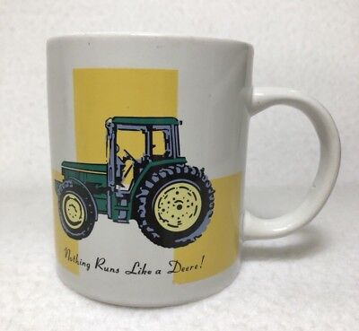 John Deere Tractor Ceramic Coffee Mug Tea Cup Licensed Fathers Day Gift Present
