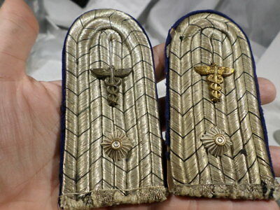 WWI German Army Medical Administrative Shoulder Boards Officer