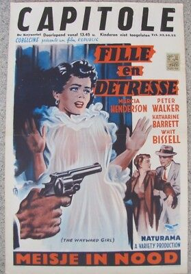 WAYWARD GIRL Bad Girl Prison WIP 1959 Belgian MOVIE POSTER Original