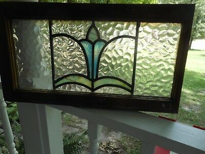 MA13-579A Lovely Transom Style Leaded Stained Glass Window F/England Last One!