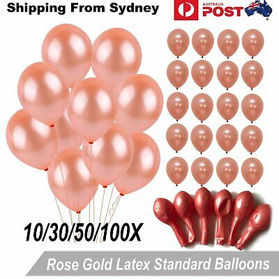 10-100x Latex Standard 25cm Rose Gold Helium Balloons Balloon Party Wedding Birt