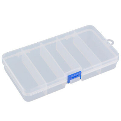 Transparent Plastic Fishing Lure Bait Box Storage Organizer Container Case Z8I5