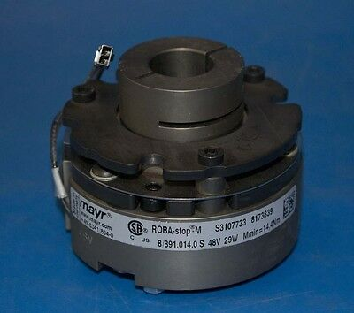 MAYR ROBA-Stop-M Electromagnetic Safety Motor Brake 8/891.014.0 S 29W 14,4Nm 48V