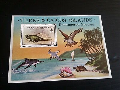 Turks And Caicos Islands 1979 Sg Ms539 Endangered Wildlife  Mnh (C)