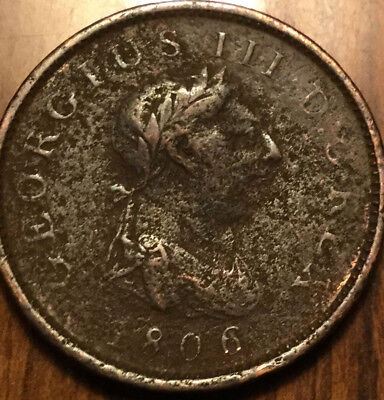 1806 UK GB GREAT BRITAIN GEO III PENNY - Pitted