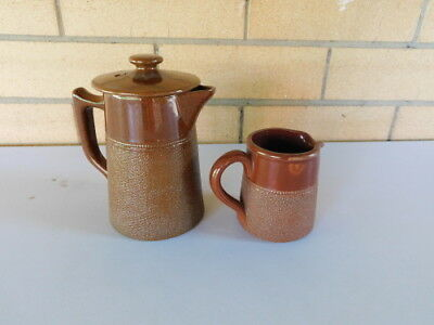 Fowler 2-Cuo Coffee Pot and Milk Jug