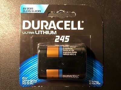 1 x Duracell Ultra Photo Lithium 6V battery DL245 2CR5 ELCR5 EXP 2021 FREE SHIP