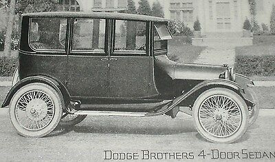 1920 Dodge advertisement, DODGE Brothers Motor Car, sedan photo, suburban street