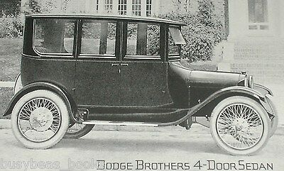 1920 Dodge advertisement page, DODGE Brothers Motor Car, sedan photo