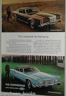 1971 Lincoln ad, Lincoln Continental & Cont. Mark III