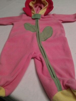 Baby girl long-sleeved Pink flower snowsuit bunting outerwear 0-3 months