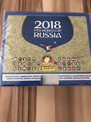 Panini WM 2018 Russia World Cup Sticker  1 x Display / 100 Tüten