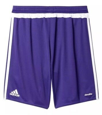 b9ab96f8a ADIDAS YOUTH MLS Match Soccer Shorts Purple White Large NEW -  10.99 ...