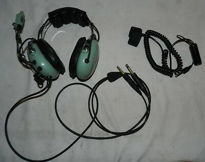 David Clark Model H10-40 Aviation Headset with M-4 Microphone + PTT thumb switch