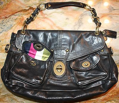COACH Authentic  658 LEIGH LEGACY Limited Edition Black Leather Hobo Purse  Bag c8213b5543a2e
