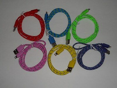 8 Pin USB Data Charge Cable for iPhone 5/6/7 phone 50 cables lot