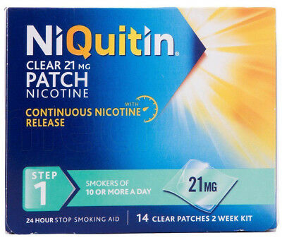 NiQuitin 21mg Clear 24 Hour 14 Patch Step 1. FREEPOST