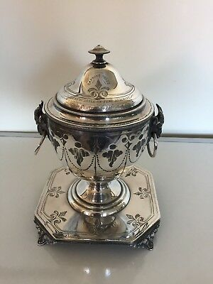 Silver Plated Urn With Rams Head Handles (1St Newcastle Upon Tyne Artillery)