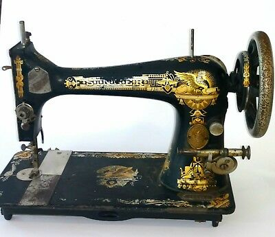 ANTIQUE SINGER MANUAL Sewing Machine With Serial Early 40 Stunning Singer Manual Sewing Machine