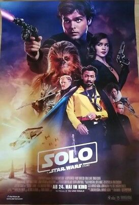 SOLO - A Star Wars Story ~ Filmposter A1 - Han Solo Kinoposter Krieg ...