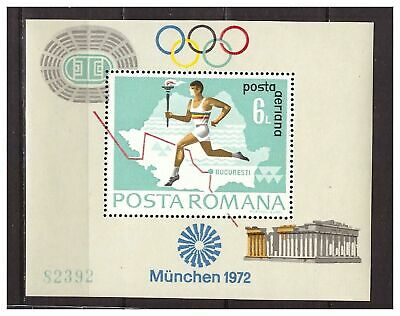 39059) ROMANIA 1972 MNH** Olympic Games s/s