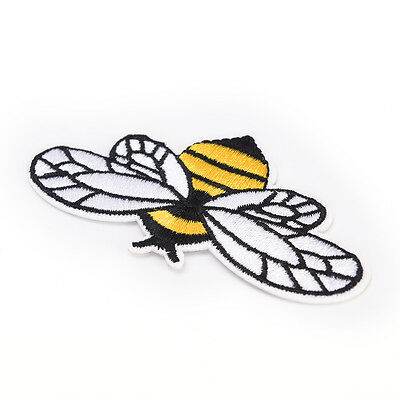 Bumble Bee Sew On Patches Ricamato Badge Bag Applique Fabric Clothes Craft WQZY