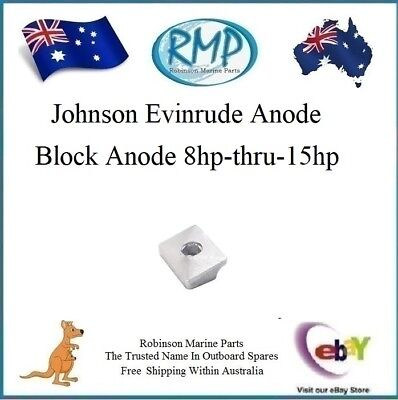 A Brand New Block Anode Johnson Evinrude 8hp-thru-15hp 4/Stroke # 338635