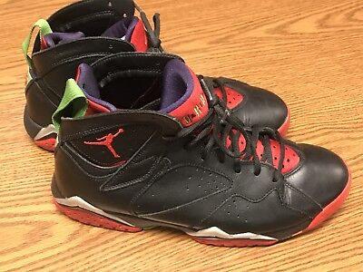new product a941e bedcd Nike 304775-029 Air Jordan VII 7 Retro Black Red Green Marvin The Martian  10.5