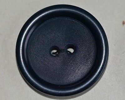 "6 Dark Navy Vegetable Ivory Button On Card 1 1/8"" Quantity Discount"